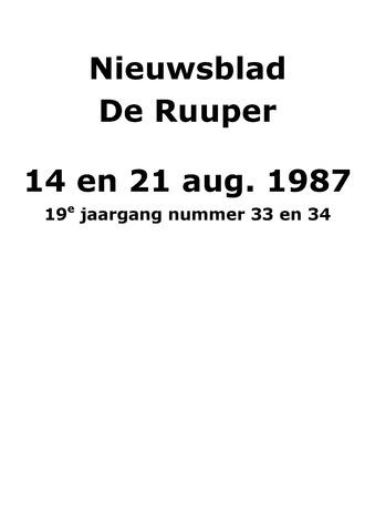 Dorpsblad Leunen-Veulen-Heide 1987-08-14