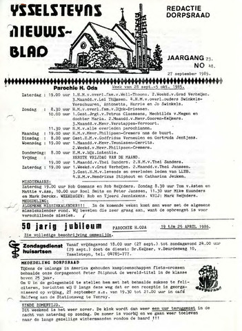 Ysselsteyns Nieuwsblad 1985-09-27