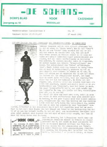 Castenrays dorpsblad De Schans 1981-03-27