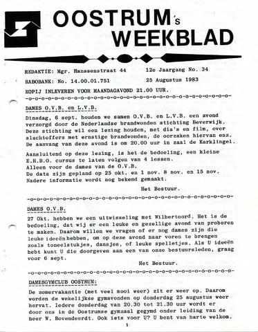Oostrum's Weekblad 1983-08-25