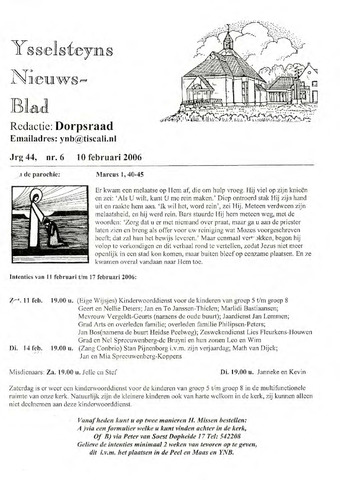 Ysselsteyns Nieuwsblad 2006-02-10