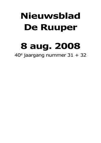 Dorpsblad Leunen-Veulen-Heide 2008-08-08