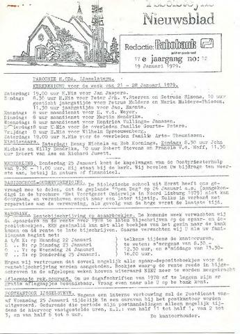 Ysselsteyns Nieuwsblad 1979-01-19