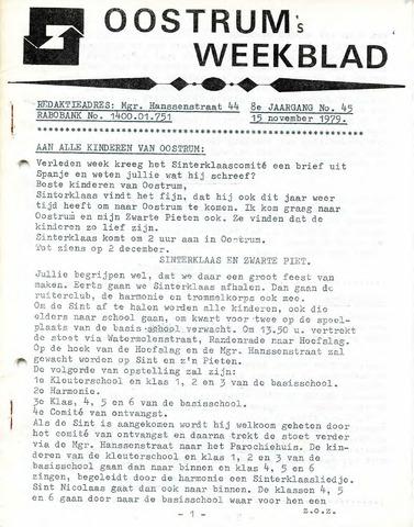 Oostrum's Weekblad 1979-11-15