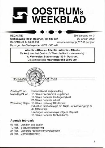 Oostrum's Weekblad 2000-01-20