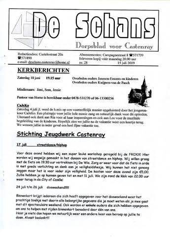 Castenrays dorpsblad De Schans 2009-07-15