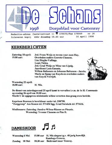 Castenrays dorpsblad De Schans 1998-04-16