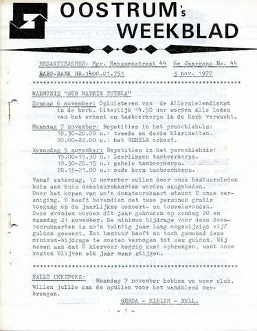 Oostrum's Weekblad 1977-11-03