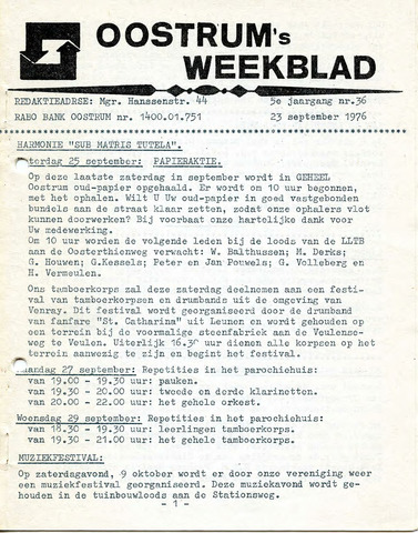 Oostrum's Weekblad 1976-09-23