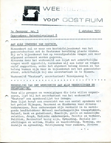 Oostrum's Weekblad 1972-10-06