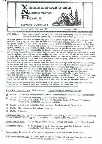 Ysselsteyns Nieuwsblad 1991-03-15