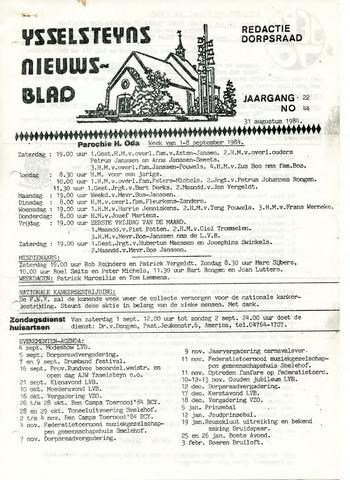 Ysselsteyns Nieuwsblad 1984-08-31