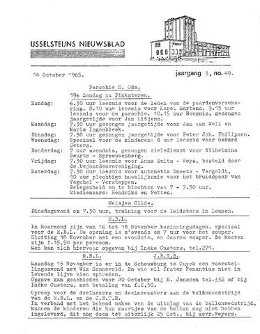 Ysselsteyns Nieuwsblad 1965-10-14