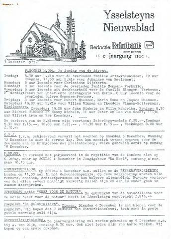 Ysselsteyns Nieuwsblad 1977-12-03