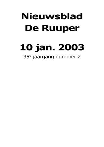 Dorpsblad Leunen-Veulen-Heide 2003-01-10