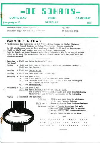 Castenrays dorpsblad De Schans 1981-12-18