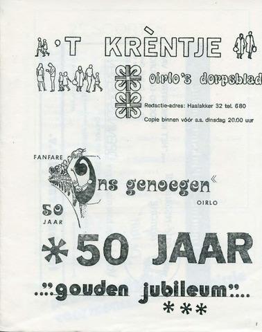 Oirlo's dorpsblad 't Krèntje 1977-05-25