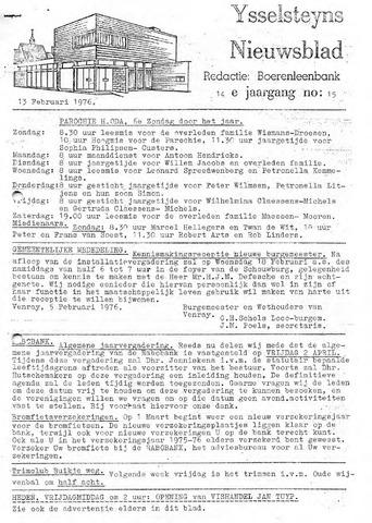 Ysselsteyns Nieuwsblad 1976-02-13
