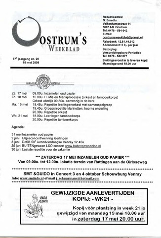 Oostrum's Weekblad 2008-05-15
