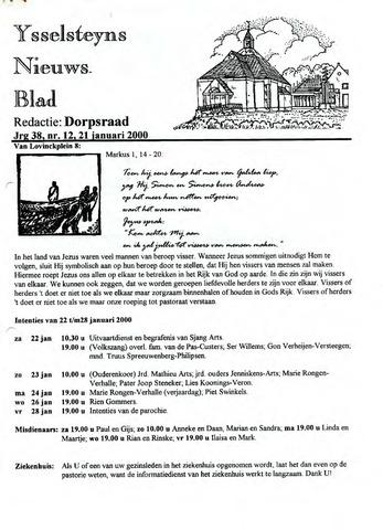 Ysselsteyns Nieuwsblad 2000-01-21