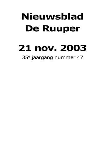 Dorpsblad Leunen-Veulen-Heide 2003-11-21