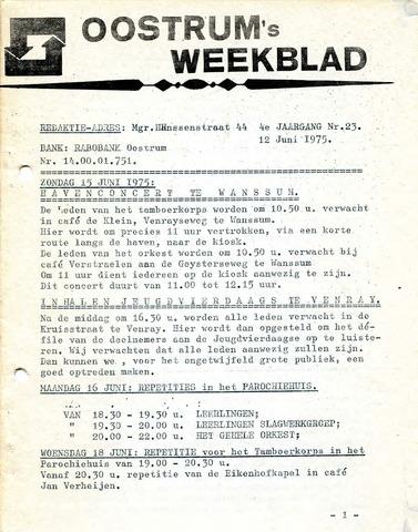 Oostrum's Weekblad 1975-06-12