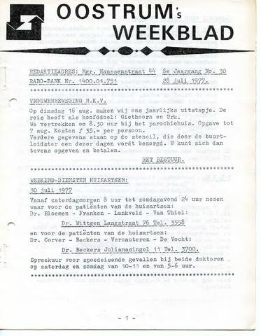 Oostrum's Weekblad 1977-07-28
