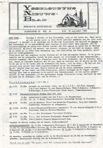 Ysselsteyns Nieuwsblad 1988-09-30