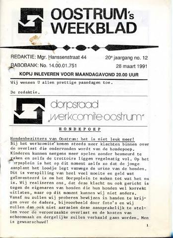 Oostrum's Weekblad 1991-03-28