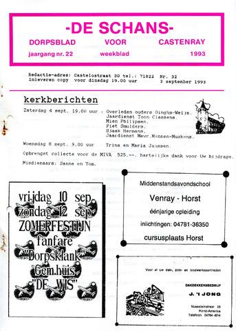 Castenrays dorpsblad De Schans 1993-09-03