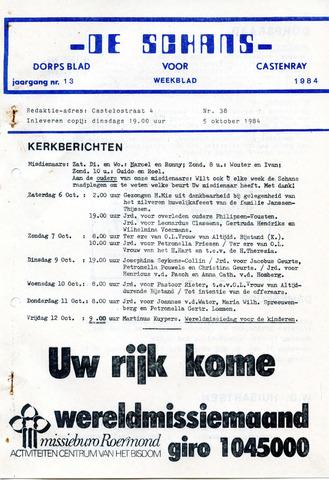 Castenrays dorpsblad De Schans 1984-10-05