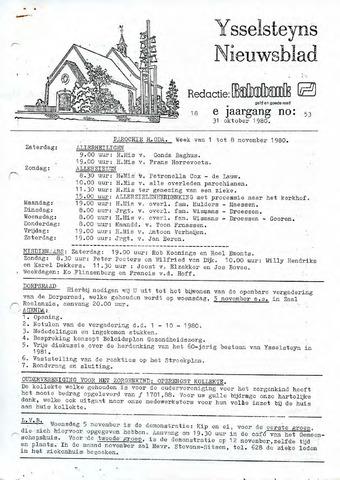 Ysselsteyns Nieuwsblad 1980-10-31