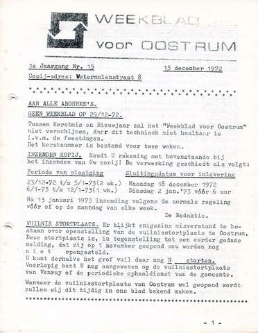 Oostrum's Weekblad 1972-12-15