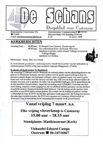 Castenrays dorpsblad De Schans 2008-03-05