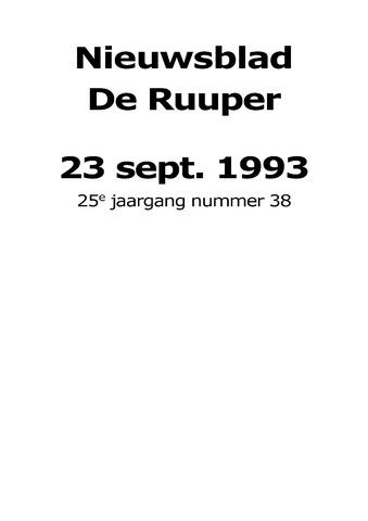 Dorpsblad Leunen-Veulen-Heide 1993-09-23