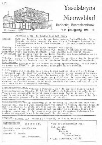 Ysselsteyns Nieuwsblad 1977-01-28