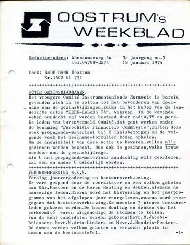Oostrum's Weekblad 1974-01-18