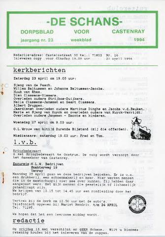 Castenrays dorpsblad De Schans 1994-04-22
