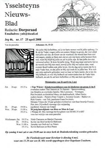 Ysselsteyns Nieuwsblad 2008-04-25
