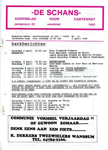 Castenrays dorpsblad De Schans 1993-04-02