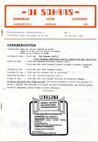 Castenrays dorpsblad De Schans 1985-01-18