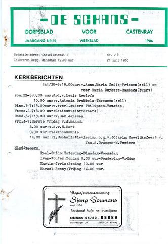 Castenrays dorpsblad De Schans 1986-06-27