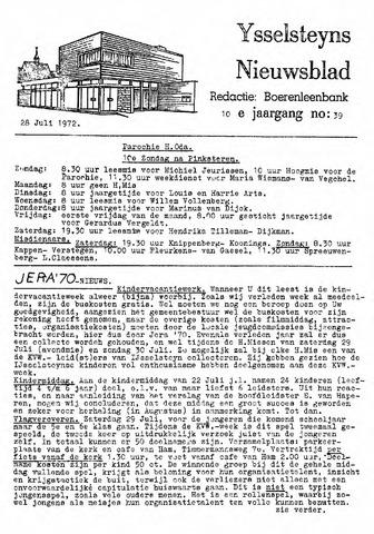 Ysselsteyns Nieuwsblad 1972-07-28