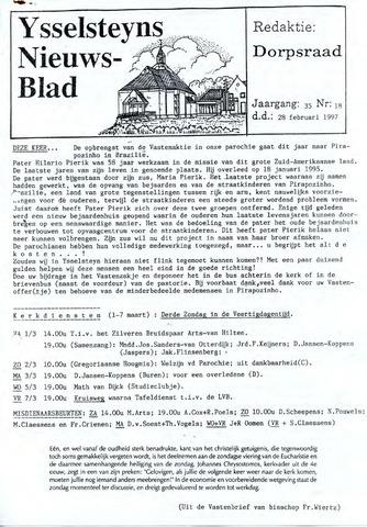 Ysselsteyns Nieuwsblad 1997-02-28