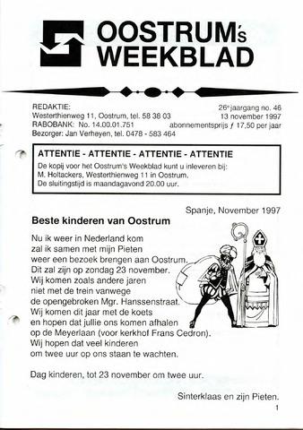 Oostrum's Weekblad 1997-11-13