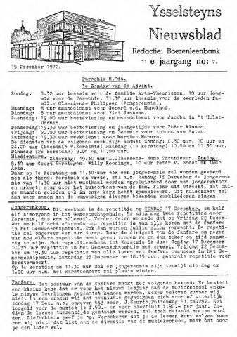 Ysselsteyns Nieuwsblad 1972-12-15