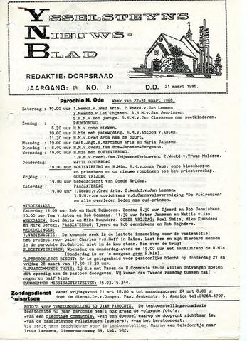 Ysselsteyns Nieuwsblad 1986-03-21