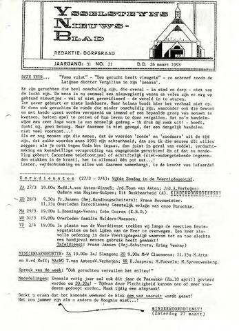Ysselsteyns Nieuwsblad 1993-03-26