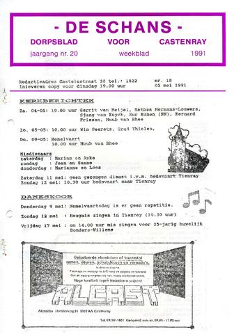 Castenrays dorpsblad De Schans 1991-05-03
