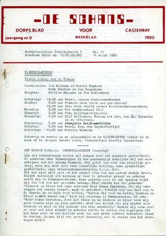 Castenrays dorpsblad De Schans 1980-03-14
